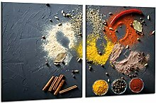 decorwelt | Herdabdeckplatten 2x40x52 cm 2-Teilig