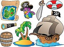 DecoSoon Aufkleber Pirat Adventure (120x 88cm)
