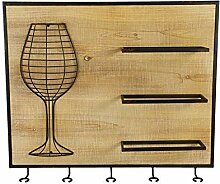 Decostar weinregal Monvalle 52,5 cm Stahl/Holz