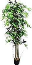 Decovego Bambus Kunstpflanze Kunstbaum Künstliche