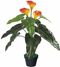 Decovego Drachenwurz Calla Lily Kunstpflanze