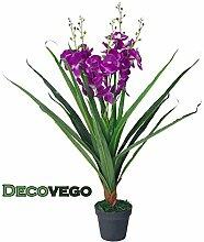 Decovego Künstliche Orchidee Kunstpflanze Pflanze