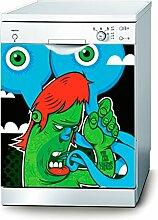 Decusto Green Monster Aufkleber für Geschirrspüler