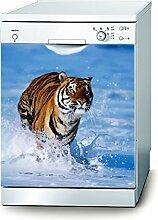 Decusto Tiger Aufkleber für Geschirrspüler