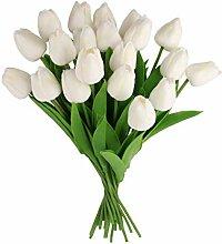 Dedoot Künstliche Blumen, 20 Stück, Tulpen,