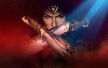 Deeaceo® Wandtapete mit 3D-Effekt, Motiv: Hero