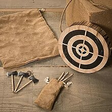 DEEPOW Viking Axe Throwing Game - Wooden Dart and