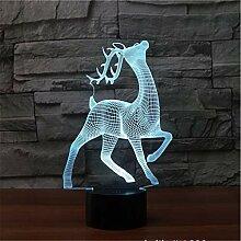 Deer 3D-Licht Bunte Note Aufladung LED visuelle