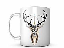Deer Artwork Keramik Tasse Kaffee Tee Becher Mug