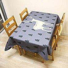 Deer Tisch Tuch Baumwolle Bettwäsche–memorecool Haustierhaus alle Arten von Mustern bequem Reinigungstuch Art genießen 99,1x 139,7cm, baumwolle, deer3, 55x79inch