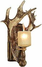 Deer wall lamp Wandlampe Rotwild alte warme Lampe