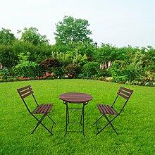 defacto Gartenmöbel Set 3-teilig Balkontisch