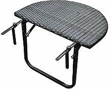 DEGAMO Balkonhängetisch 60x40cm, Metall +