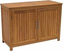 DEGAMO Holz Gartenschrank Cabinet 120x50cm mit