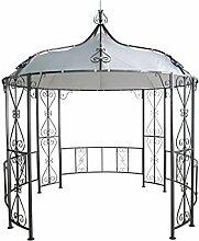 DEGAMO Luxus Pavillon 300cm rund, Stahlgestell +