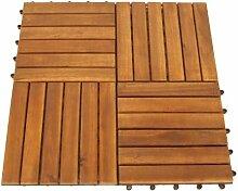 DEGAMO Set Holzfliesen (12 Stück) aus