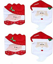 DegGod Pack of 4 Weihnachten Mr & Mrs Santa Claus