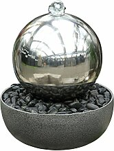 Dehner Gartenbrunnen Globe mit LED Beleuchtung, Ø