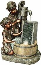 Dehner Gartenbrunnen Lea & Tom mit LED