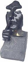 Dehner Gartenbrunnen Mask mit LED Beleuchtung, ca.