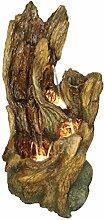 Dehner Gartenbrunnen Oak mit LED Beleuchtung, ca.