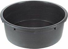 Dehner Mini-Gartenteich Becken 150 l, Ø 88 cm, Höhe 32 cm, Polyethylen, schwarz