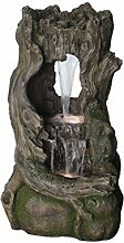 Dehner Polyresin Brunnen Timber mit LED Beleuchtung, ca. 109 x 60 x 50 cm, 26.5 kg