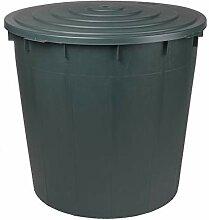 Dehner Regentonne mit Deckel, 500 Liter, Ø 96 cm,