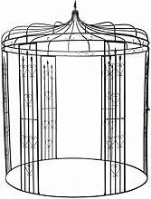 Dehner Rosenbogen Pavillon Heart, ca. 271 x 232 x 232 cm, Metall, schwarz