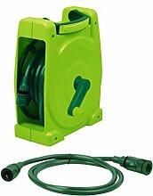 Dehner Schlauchbox und Anschlussgarnitur, Länge 10 m, Kunststoff, grün