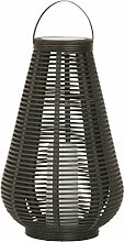 Dehner Solarlaterne mit LED-Flacker Kerze, Höhe