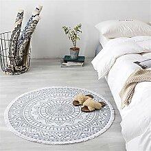 Deike Mild Mandala Runde Teppich, Bohemian Style