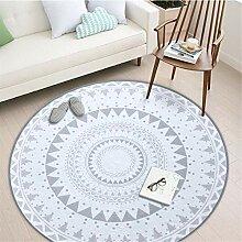 Deike Mild Retro Runder Teppich, Mandala Muster