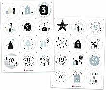 DeinBonbon Adventskalender Zahlen - Stickerbogen