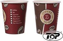 DeinPack 200 Coffee to Go Becher mit Deckel,