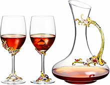 Dekanter Kristall Weinglas Haushalt Anzug