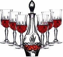 Dekanter Kristallglas Rotwein Set Becher Mit