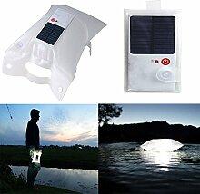 dekawei aufblasbar IP67Camping Leichte Solar LED Laterne Lampe Tragbar Klappbar Wasserdicht Outdoor Lichter für Wandern Zelt Trekking Reise Notfall Beleuchtung