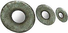Deko 3PC. Antik Silber Finish Gerahmter Wandspiegel Se
