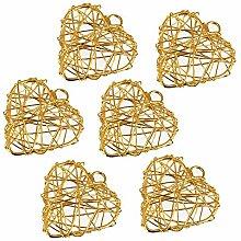 040-0090-057 15 cm Herz-Form Brautstrausshalter