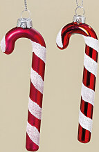 Deko-Anhänger - Weihnachtsdeko Zuckerstange - rot lackiert