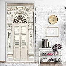 Deko Aufkleber Vintage Tür 3D Tür Aufkleber