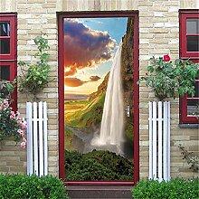 Deko Aufkleber Wasserfall Tür Aufkleber