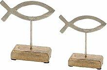 Deko-Aufsteller Fische/Fisch-Figur aus Metall auf