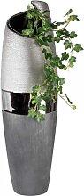 Deko Bodenvase LUXOR rund H. 60cm B. 18cm silber grau Keramik Formano (75,00 EUR / Stück)