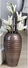 Deko Bodenvase SALVADOR Keramik bronzefarben braun H. 52cm D. 30cm Casablanca (44,95 EUR / Stück)