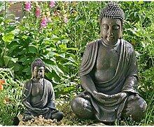 Deko-Buddha sitzend, ca. 40cm hoch in Braun |
