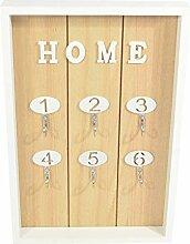 Deko CHICCIE Home Schlüsselbrett Mit 6 Haken