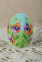 Deko Ei handmade Ostern Schmuck Ostern Dekoration Ostern Symbol bunt originell