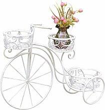 Deko Fahrrad Garten Shabby Landhaus Metall weiß